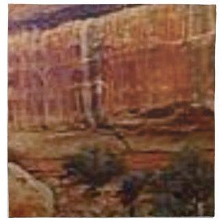 desert rock stripes napkin