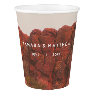 Desert Rocks Paper Cups