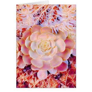 Desert rose greeting card