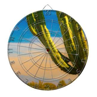 Desert Saguaro Cactus on Blue Sky Dartboard