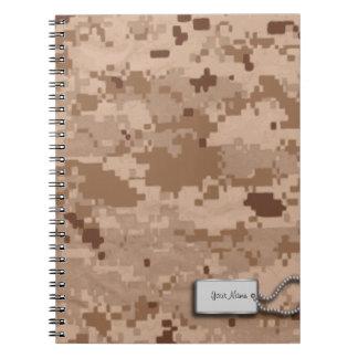 Desert Sand Digital Military Camouflage Notebook