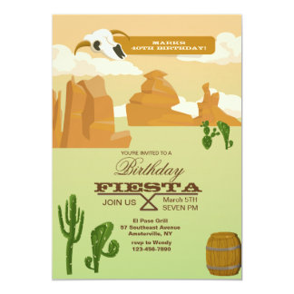 Desert Scene Invitation
