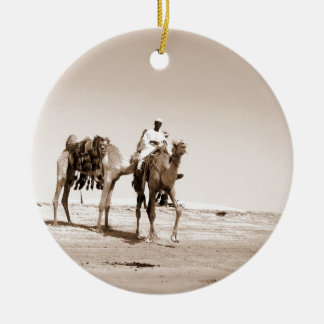Desert  Scene  with Camels Ceramic Ornament