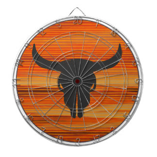 Desert Skull Sunset Dartboard
