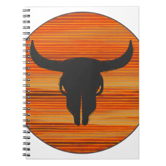 Desert Skull Sunset Spiral Notebook