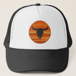 Desert Skull Sunset Trucker Hat
