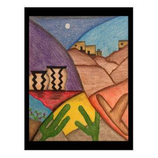 Desert Southwest Folk Art Postcard