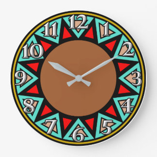Desert Southwest Motif Large Clock