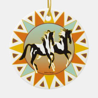 Desert Star Paint Horse Ornament