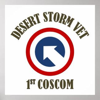 Desert Storm Vet - 1st COSCOM Posters