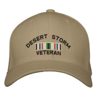 Desert Storm Veteran Embroidered Hat