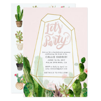 Desert Succulent Bachelorette or Party Invitation