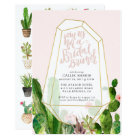 Desert Succulent Bridal Brunch Invitation - Pink