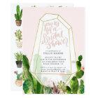 Desert Succulent Bridal Shower Invitation - Pink