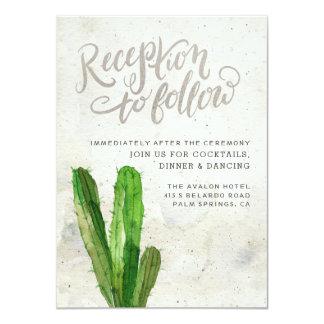 Desert Succulent Reception Card - Stone
