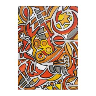 Desert Sun-Abstract Art Handpainted Geometric