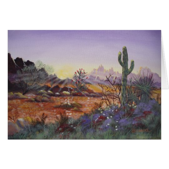 Desert Sun - Blank Greeting Cards