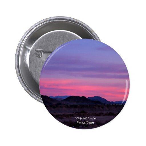 Desert Sunset Buttons