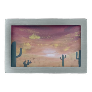 Desert Sunset Belt Buckle