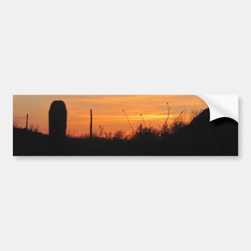 Desert Sunset Bumper Sticker