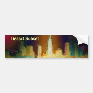 """""""Desert Sunset""""  Bumper Sticker"""