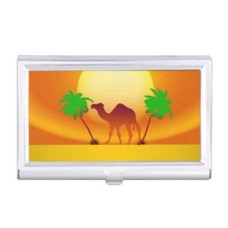 Desert Sunset Business Card Holder