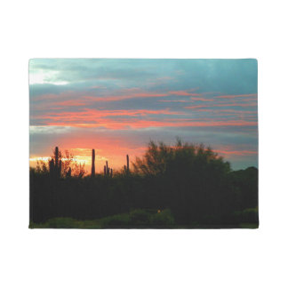 Desert sunset doormat