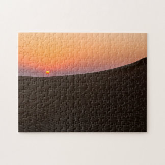 Desert sunset in Dubai Jigsaw Puzzle