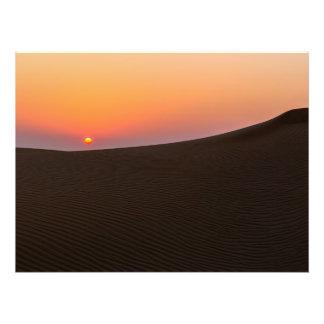 Desert sunset in Dubai Photographic Print