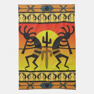 Desert Sunset  Kokopelli Southwest Tea Towel