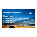 Desert Sunset near Historic Route 66 Business Card Templates