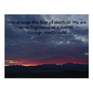Desert Sunset Postcard