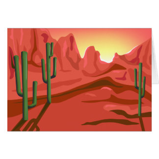 Desert Sunset Red Rock Greeting Card