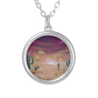 Desert Sunset Silver Plated Necklace