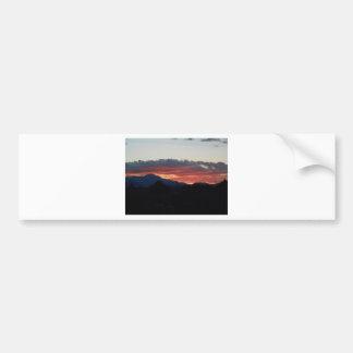 Desert Sunset with Hills Bumper Sticker