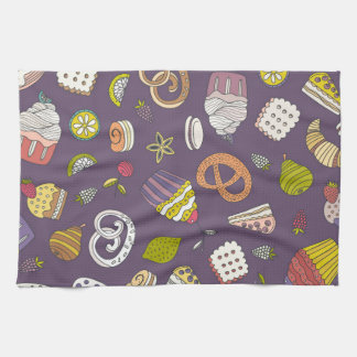 Desert & Sweets Pattern Hand Towel