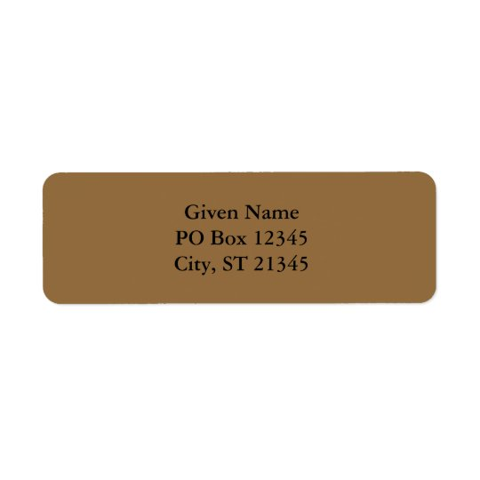 Desert Tan Return Address Label
