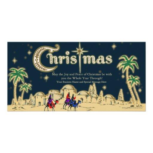Desert Travelers Flat Christmas Greeting Card Photo Greeting Card