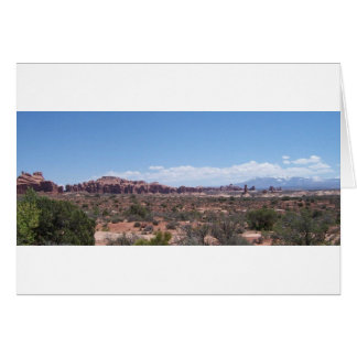 Desert View from the Distance Greeting Card