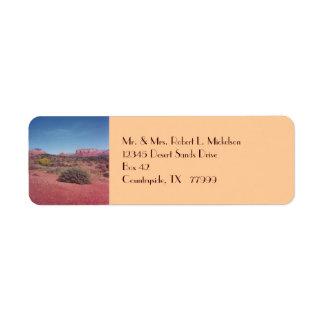 Desert Vista Custom Avery Label Return Address Label