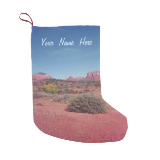 Desert Vista Personalised Small Christmas Stocking