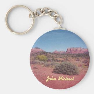 Desert Vista Personalized Keychain