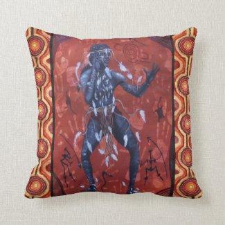 Desert Warrior Dreaming Pillow/Cushion Throw Cushions