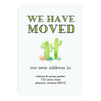 Desert Watercolor Cactus Change of Address Card