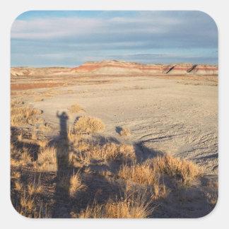 Desert Wave: Petrified Forest National Park Square Sticker