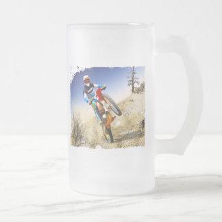 Desert Wheelie Motocross 16 Oz Frosted Glass Beer Mug
