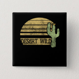 desert wild 15 cm square badge