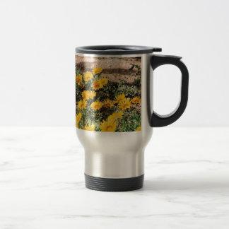 Desert Yellow Daisies Stainless Steel Travel Mug