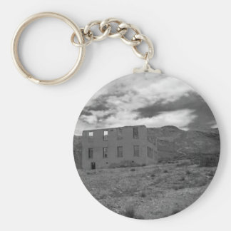 Deserted Building Photography Basic Round Button Key Ring