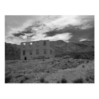 Deserted Building Photography Postcard
